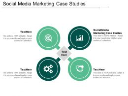 Social Media Marketing Case Studies Ppt Powerpoint Presentation Show Guidelines Cpb