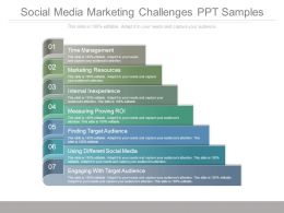 Social Media Marketing Challenges Ppt Samples