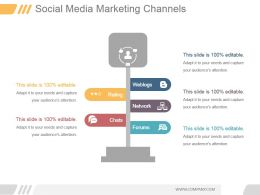 Social Media Marketing Channels Ppt Example 2017