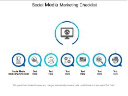 Social Media Marketing Checklist Ppt Powerpoint Presentation Infographics Gridlines Cpb