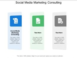 Social Media Marketing Consulting Ppt Powerpoint Presentation Gallery Design Inspiration Cpb