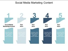 Social Media Marketing Content Ppt Powerpoint Presentation Slides Ideas Cpb