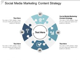 Social Media Marketing Content Strategy Ppt Powerpoint Presentation Slides Designs Cpb