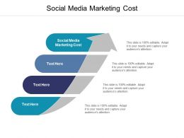 Social Media Marketing Cost Ppt Powerpoint Presentation Summary Influencers Cpb