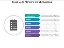 Social Media Marketing Digital Advertising Ppt Powerpoint Presentation Summary Graphics Tutorials Cpb