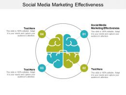 Social Media Marketing Effectiveness Ppt Powerpoint Presentation Inspiration Graphics Cpb