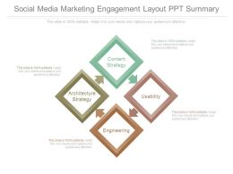 Social Media Marketing Engagement Layout Ppt Summary