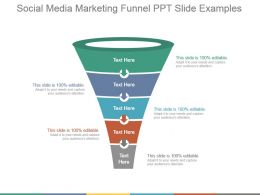 Social Media Marketing Funnel Ppt Slide Examples