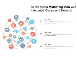Social Media Marketing Icon With Integrated Circles And Network