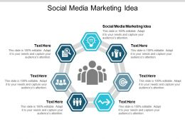 Social Media Marketing Idea Ppt Powerpoint Presentation Styles Infographic Template Cpb
