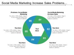 Social Media Marketing Increase Sales Problems Social Media Marketing Cpb