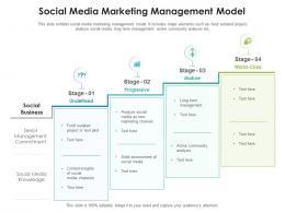 Social Media Marketing Management Model