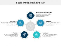 Social Media Marketing Mix Ppt Powerpoint Presentation Gallery Examples Cpb