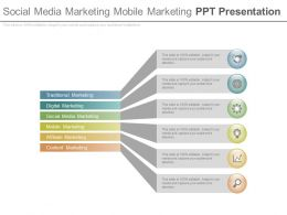 Social Media Marketing Mobile Marketing Ppt Presentation