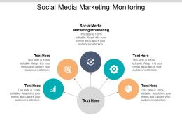 Social Media Marketing Monitoring Ppt Powerpoint Presentation Icon Gallery Cpb