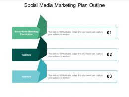 Social Media Marketing Plan Outline Ppt Powerpoint Presentation File Background Cpb