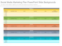 Social Media Marketing Plan Powerpoint Slide Backgrounds