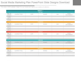 Social Media Marketing Plan Powerpoint Slide Designs Download