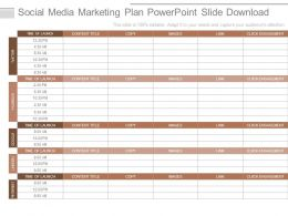 Social Media Marketing Plan Powerpoint Slide Download