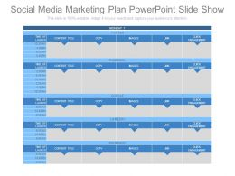 Social Media Marketing Plan Powerpoint Slide Show