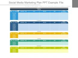 Social Media Marketing Plan Ppt Example File