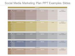 Social Media Marketing Plan Ppt Examples Slides