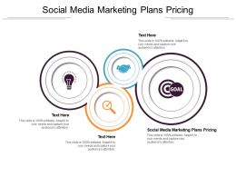 Social Media Marketing Plans Pricing Ppt Powerpoint Presentation Summary Shapes Cpb