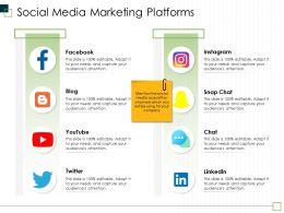 Social Media Marketing Platforms M2991 Ppt Powerpoint Presentation Slides Template