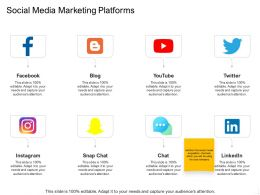 Social Media Marketing Platforms Ppt Powerpoint Presentation Professional Show