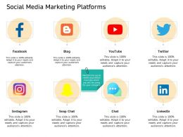 Social Media Marketing Platforms Snap Chat Ppt Powerpoint Presentation Summary Deck