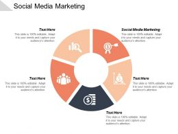Social Media Marketing Ppt Powerpoint Presentation Icon Model Cpb
