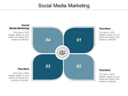 Social Media Marketing Ppt Powerpoint Presentation Infographic Template Slide Download Cpb