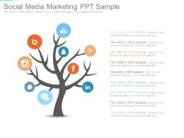 Social Media Marketing Ppt Sample