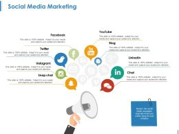 Social Media Marketing Ppt Slide