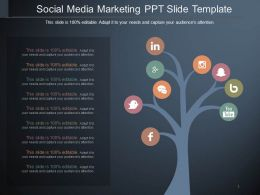 Social Media Marketing Ppt Slide Template