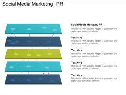 Social Media Marketing PR Ppt Powerpoint Presentation Gallery Ideas Cpb