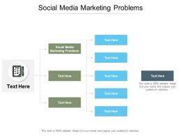 Social Media Marketing Problems Ppt Powerpoint Presentation Model Display Cpb