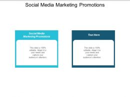 Social Media Marketing Promotions Ppt Powerpoint Presentation Slides Outfit Cpb