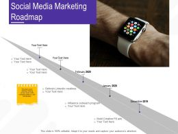 Social Media Marketing Roadmap Creatives Ppt Powerpoint Presentation Guidelines