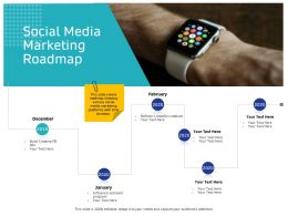Social Media Marketing Roadmap February Ppt Powerpoint Presentation Show Topics