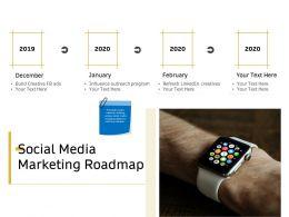 Social Media Marketing Roadmap Ppt Powerpoint Presentation Model Templates