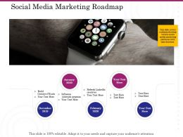 Social Media Marketing Roadmap Ppt Powerpoint Presentation Outline Objects