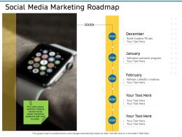 Social Media Marketing Roadmap Ppt Powerpoint Presentation Show Guide