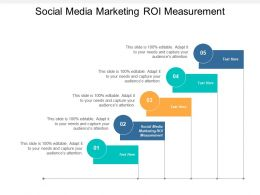Social Media Marketing ROI Measurement Ppt Powerpoint Presentation Gallery Layout Cpb