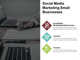 Social Media Marketing Small Businesses Ppt Powerpoint Presentation Summary Background Images Cpb