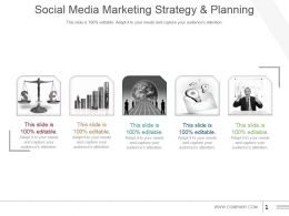 Social Media Marketing Strategy And Planning Powerpoint Slide Presentation Tips