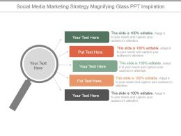 Social Media Marketing Strategy Magnifying Glass Ppt Inspiration