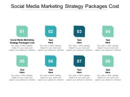 Social Media Marketing Strategy Packages Cost Ppt Powerpoint Presentation Portfolio Demonstration Cpb