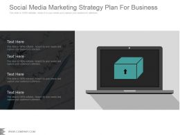 Social Media Marketing Strategy Plan For Business Sample Of Ppt Presentation