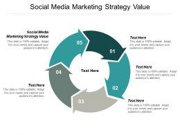 Social Media Marketing Strategy Value Ppt Powerpoint Presentation Slides Slideshow Cpb